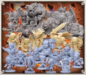 arcadia quest inferno - les figurines
