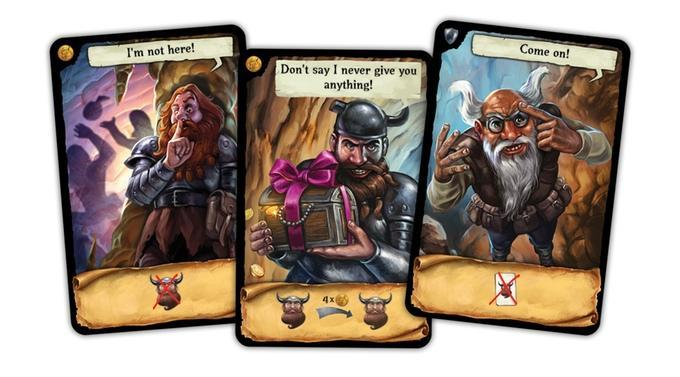 dwarves in trouble-cartes