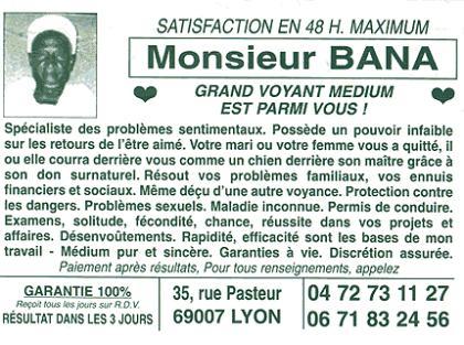 Monsieur Bana - Grand Voyant Medium est parmi vous !
