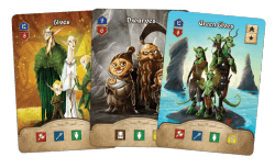 Rise to Nobility - Settlers cards - Elves, Dwarves and Green Elves