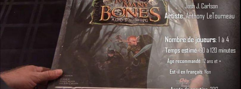 Too Many Bones Règles - Zone jeux de société