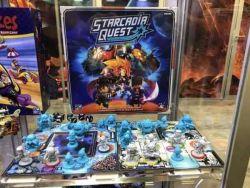 Starcadia Quest - Matériel du jeu en vitrine à la Gencon