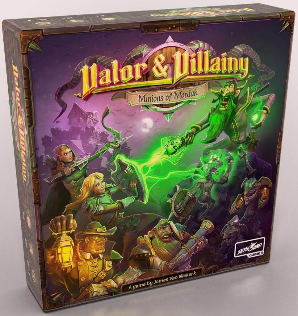 Jeu Valor and Villainy - Minions of Mordak - Kickstarter par Skybound Games - Boite