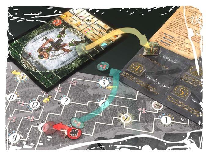 Jeu Carnival Zombie par Albe Pavo - 2nde edition - Map groupe - Phase de jour
