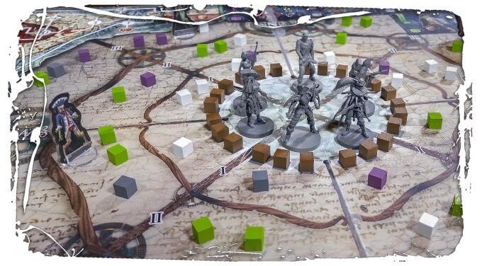 Jeu Carnival Zombie par Albe Pavo - 2nde edition - Map tactique - Phase de nuit