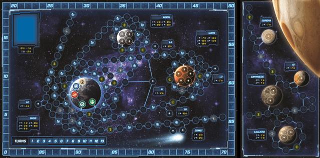Jeu Exploration - par Ply Games - Plateau et extension Jupiter