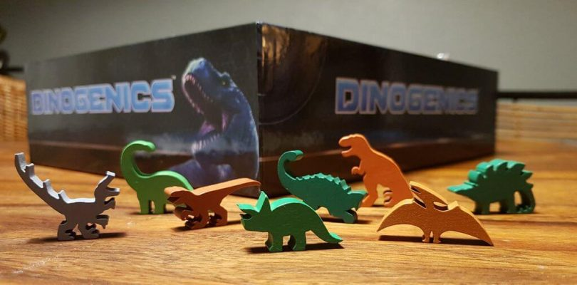 Jeu Dinogenics - Kickstarter par Ninth Haven Games - meeples