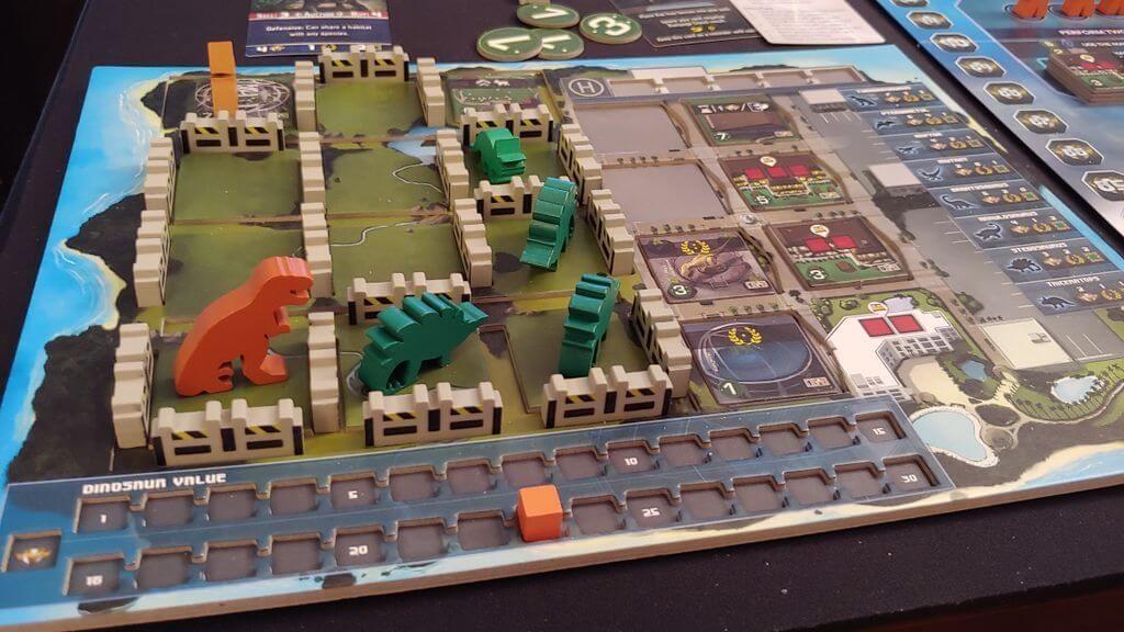 Jeu Dinogenics - par Ninth Haven Games - parc en cours