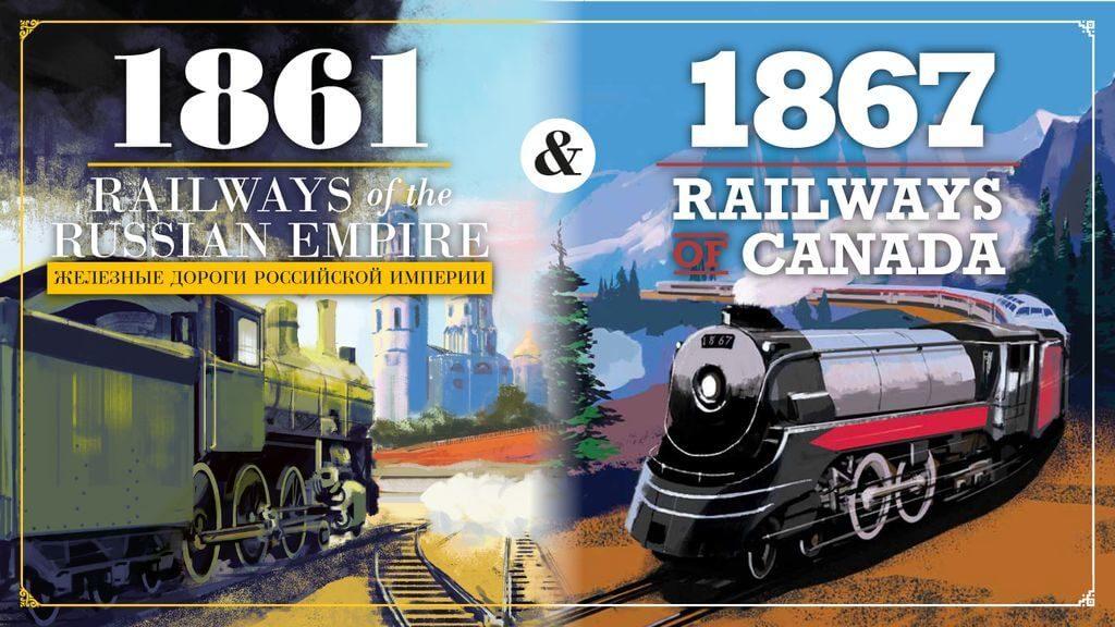 Jeux 1861 - Railways of the Russian Empire et 1867 - Railways of Canada par Grand Trunk Games