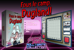 roll & write collection - fous le camp dugland - par cosmo duck