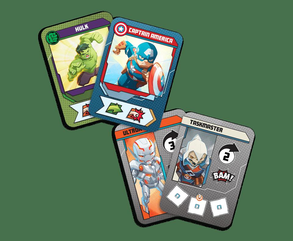 Les cartes du jeu Marvel United par CMON