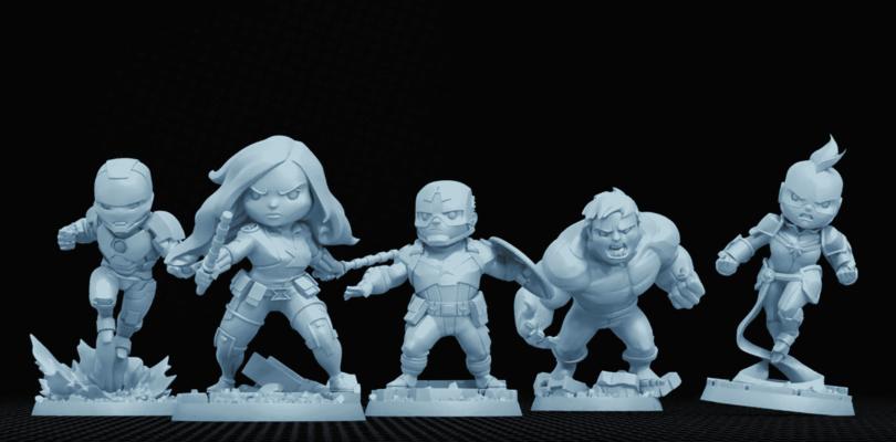Les figurines des héros du jeu Marvel United par CMON