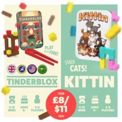 Tinderblox et Kittin - deux jolis jeux de dextérité par Alley Cat Games