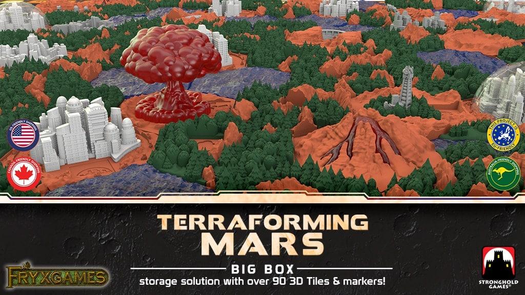 Tuiles 3D pour Terraforming Mars