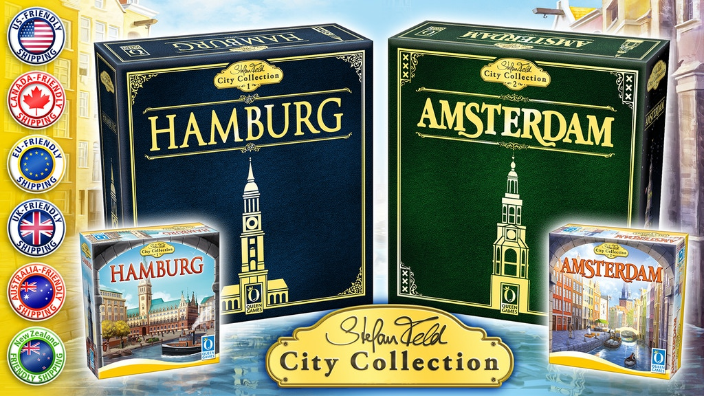 Stefan Feld City Collection - jeux Hamburg et Amsterdam