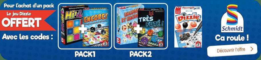 Deux roll and write achetés = 1 jeu Dizzle offert