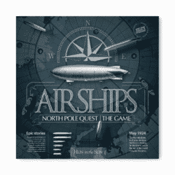 jeu Airships. North Pole Quest - par Max Pinucci