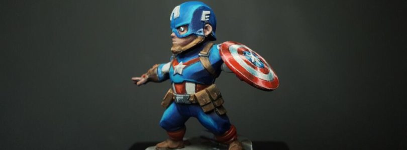 jeu Marvel United - peinture de Captain America